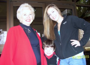 Photo of Pat Woodbury and Grandchildren
