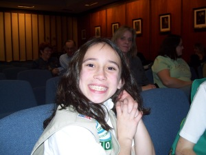 Photo of Ashleigh Peterson came to represent the Girl Scouts.