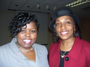 Photo of Sharon Scott and Tina Vick.